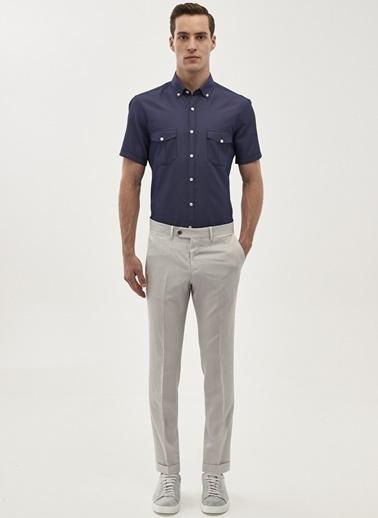 Altınyıldız Classics Tailored Slim Fit Kısa Kollu Gömlek 4A2018200099 Lacivert